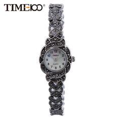 636c8b94bfa Retro Relógios Femininos de Quartzo Cinta de Aço Inoxidável Discagem  Pequeno de Casca Relógios Casuais de Bracelete para as Senhoras de Presente  bayan kol ...