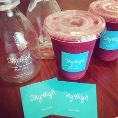 夏にピッタリな贈り物を頂きました♡青山の #skyhighjuicebar