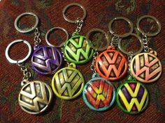 Custom Resin VW (Volkswagen) Keychain