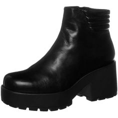 Vagabond DIOON Boots ($125) ❤ liked on Polyvore featuring shoes, boots, black, women's footwear, faux-fur boots, faux-leather boots, black faux boots, black boots and over the knee leather boots