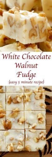 White Chocolate Walnut Fudge