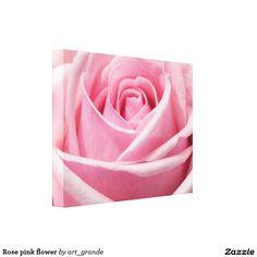 Rose pink flower canvas print