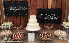 Design W 0807 | Dessert Bar featuring Fresh Fruit Tartlets, Pistachio Mousse Shooter Cups, Mini Cupcakes, Boston Cream Puffs | Custom Quote
