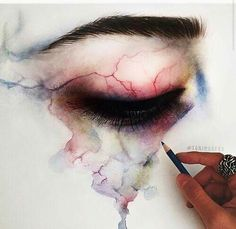 Imagen de art, eye, and drawing