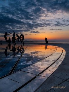 """laura-zuza:  -""""Zadar has the most beautiful sunset in the world, more beautiful than the one in Key West, Florida, applauded at every evening."""" -Alfred Hitchcock,1964."""