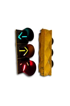 What a great gift for him or found object for the game room, man cave or a child's room! This massive traffic light has original paint. The middle yellow arrow blinks, most likely the settings can be adjusted for a solid light. You can hang it up from the top or it is fashioned with a threaded bolt so that it can be put on a metal stand. SHOP http://www.heathertique.com/products/industrial-vintage-working-traffic-light-decor-distressed-yellow-signal | Vintage Home Decor + Bedroom Ideas