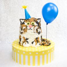 Easy Gigantic Cat Birthday Cake Tutorial for Kids and Cat Lovers