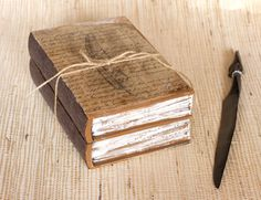 Book Treasury Wooden Decoupaged Feather  Box   by MyHouseOfDreams, $28.00