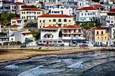 Batsi village Andros Island Cyclades