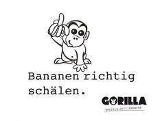 HOW TO: Banane richtig schälen - GORILLA