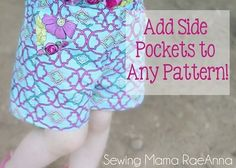 Tutorial: How to add inset side pockets to any pattern: