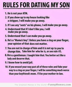 [Rules for dating my son] Haha prefect for my friend Stacy!