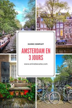 What to do and what to see during a 3 day visit to Amsterdam. In this ar … – Travel and Tourism Trends 2019 Tour En Amsterdam, Amsterdam Weekend, Amsterdam City Guide, Amsterdam Travel, Road Trip Pays Bas, Road Trip France, Voyage Europe, Photos Voyages, Europe Destinations