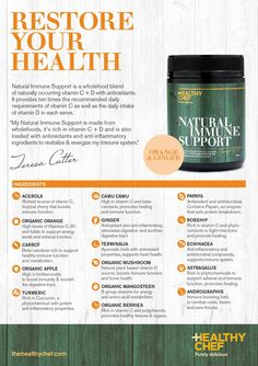 Natural Immune Support, The Healthy Chef