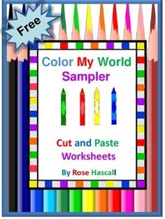 FREE-Color My World Sampler, Preschool, Autism, P-K,K, Special Ed., Back to School... PreK, Kindergarten, 1st, Homeschool  Thematic Unit Plans, Homeschool Curricula, Montessori.. A Sampler of 4 ..Concentrating on one color at a time can be helpful. This Color My World series does just that. Each set consist of 22 pages emphasizing one color. In this **Sampler, you will receive 4 of them free .