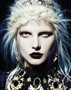 Gothic, melancholic beauty  pale skin and eyes like milk  you love the creatures of the dark  and feel like home only at night..