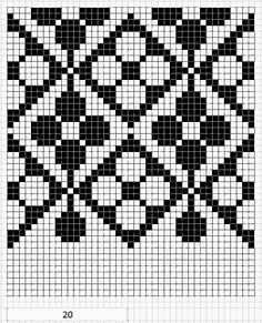 another graph for possible tapestry crochet Tapestry Crochet Patterns, Crochet Stitches Patterns, Crochet Chart, Loom Patterns, Beading Patterns, Cross Stitch Patterns, Knitting Patterns, Knitting Tutorials, Crochet Granny
