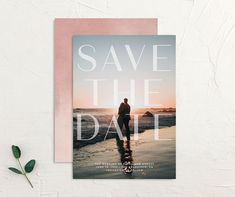 Awash save the date front and back pink Modern Save The Dates, Wedding Save The Dates, Save The Date Cards, Our Wedding, Wedding Ideas, Calligraphy Save The Dates, Love Shape, Wedding Website, Card Sizes