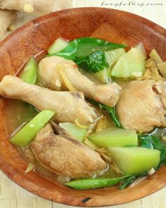 Put simply, Tinola is a chicken soup with lots of ginger and goodness in it.| www.foxyfolksy.com