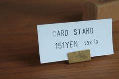 ブラスカードスタンド - ONLINE SHOP『CYATE』チャテ | オリジナル無垢雑貨家具・interior goods Place Cards, Place Card Holders, Display, Design, Floor Space, Billboard
