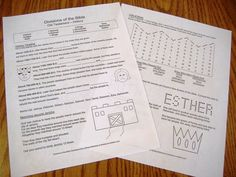 Worksheets for how the books of the Bible are divided