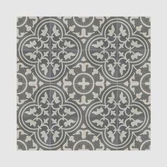 Casa Grey and White handmade cement Moroccan tile, 8 Inch X 8 inch floor and wall tile (pack of 12) - Free Shipping Today - Overstock.com - 20407140 - Mobile
