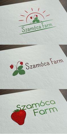 Szamóca Farm logótervek