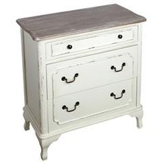 WOODEN DRAWER IN WHITE/BEIGE COLOR 80X40X80