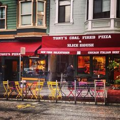 Tony's Coal-Fired Pizza & Slice House in San Francisco, CA Slice of New York Style Cheese Pizza