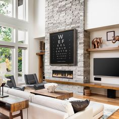 Custom Eye Chart Optometrist Gift Personalized Canvas Reclaimed Wood Frame Family Name Sign Rustic Home Decor Rustic Decor Large Wall Art Fireplace Tv Wall, Fireplace Remodel, Modern Fireplace, Living Room With Fireplace, Home Living Room, Living Room Decor, Fireplace Ideas, Two Story Fireplace, Linear Fireplace
