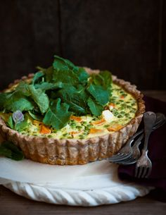 Spring Quiche, with Butternut Squash, Peas, and Feta | Desserts for Breakfast