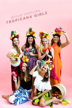 Tropicana Girls DIY Group Costume