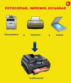 How to say names of office machines in Spanish (printer, scanner, photocopy machine, multifunctional)