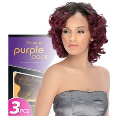 Outre 100% Human Hair Blend Weaving Premium Purple Pack 3pcs Jade Swirl