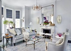 Stunning light blue traditional style glam living room decor with light blue curved sofa and eclectic decor #interiordesign #design #interior #homedecor #architecture #home #decor #interiors #homedesign #art #interiordesigner #furniture #decoration #luxury #designer Luxury Bedroom Furniture, Space Furniture, Luxury Bedding, Bedroom Decor, Room Lights Decor, Glam Living Room, Living Room Decor Traditional, Sustainable Furniture, Curved Sofa