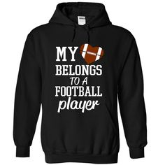 My Heart Belongs To A Football Player (Football Tee) T Shirt, Hoodie, Sweatshirt