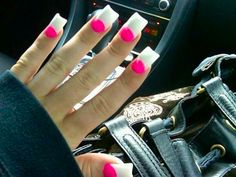Hot pink and white. A little ghetto - but good colors