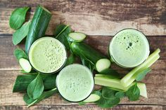 Cucumber and celery juice can provide lots of beneficial vitamins and minerals, along with many of the benefits of eating these nutrient-rich vegetables. Cucumber Juice Benefits, Cucumber Detox Water, Edamame, Detox Shakes, Pak Choi, Celery Juice, Juicing For Health, Healthy Vegetables, Weight Loss Smoothies