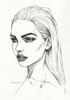 Quick pencil sketch on paper. Model: Dasha Derevyankina ---------- My . - Quick pencil sketch on paper. Model: Dasha Derevyankina ———- My links: Buy … - Portrait Au Crayon, Pencil Portrait, Pencil Art Drawings, Art Sketches, Horse Drawings, Inspiration Art, Art Inspo, Art Du Croquis, Art Images