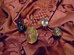 Carnelians Intaglios Rings - Dogale Jewellery venice Italy