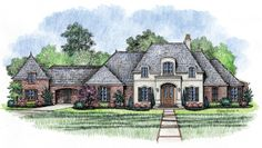 The English Turn Madden Home Design French country home plan