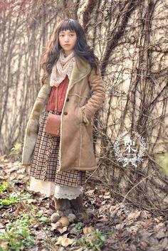 Mori girl fall/winter fashion