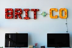 100 Creative DIY Wall Art Ideas to Decorate Your Space via Brit + Co