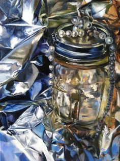almost done still life of a mason jar with aluminum foil Be Still, Still Life, Mason Jars, Photography, Painting, Photograph, Fotografie, Painting Art, Mason Jar