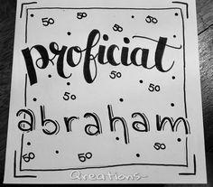 Abraham | 50 jaar | Handlettering Qreations