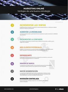 Marketing Online: ventajas de una buena estrategia #infografia #infographic #marketing
