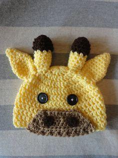 Giraffe Crochet Hat on Etsy, $15.00
