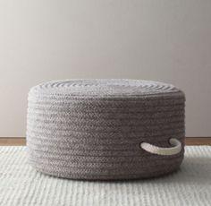 Braided Wool Pouf