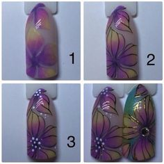 VK is the largest European social network with more than 100 million active users. Easy Nail Art, Cool Nail Art, Nail Art Fleur, Nail Effects, Modern Nails, Short Nails Art, Flower Nail Art, Nail Decorations, Purple Nails