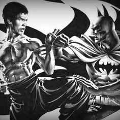 Awesome Bruce Lee vs Batman picture! http://www.brucelee.com/